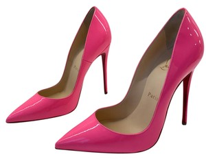 Christian Louboutin Heels Stiletto So Kate Patent Pink Pumps