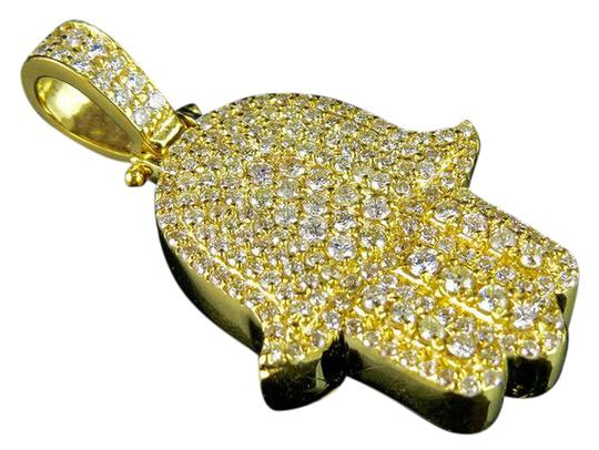 Preload https://img-static.tradesy.com/item/20418155/solid-14k-yellow-gold-genuine-diamonds-hamsa-pendant-charm-35ct-necklace-0-1-540-540.jpg