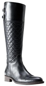 Burberry Quilted Designer Black Boots