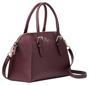 Kate Spade Leather Pippa Wine Satchel in Mulled Wine