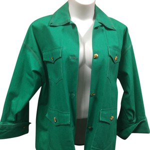 Chanel Green Womens Jean Jacket