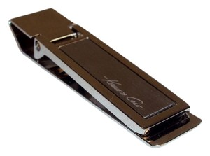 Nautica Money Clip - Kenneth Cole Stainless Steel with Brushed Metal Inset
