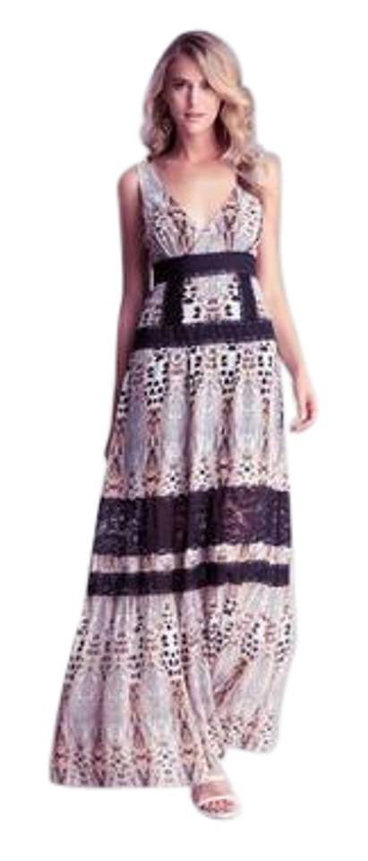 d2924caee bebe Animal Print Mixed Lace Maxi Long Formal Dress Size 8 (M) - Tradesy