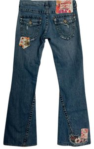 True Religion Tr Woodstock Vintage Boot Cut Jeans-Distressed