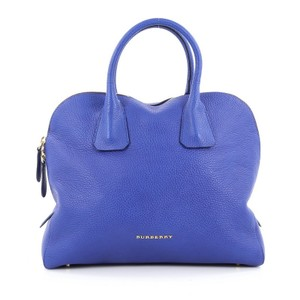 Burberry Leather Satchel in Bright Blue