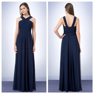 Bill Levkoff Navy Blue Bill Levkoff 1218 Bridesmaid Dress In Navy Dress