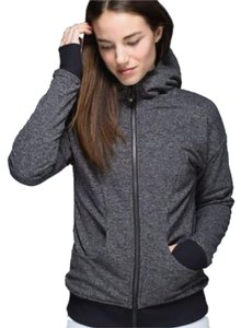 Lululemon Gray Herringbone Luscious Embrace Reversible Plush Hoodie