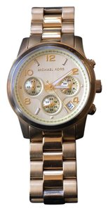 Michael Kors Runway Chronograph Gold-Tone Stainless Steel Champagne Dial