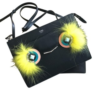Fendi Clutch Monster Fur Cross Body Bag