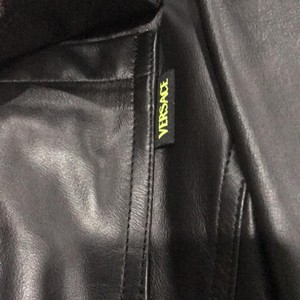 Versace Jeans Collection black Leather Jacket