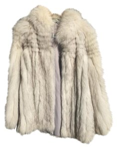 Saga Furs Fox Fur Fur Real Fur Blue Fox Fur Coat