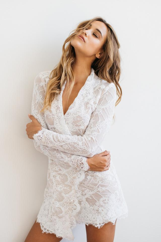 90f8727b99d Stone Cold Fox short dress White Wedding Lace Engagement Cocktail Summer on  Tradesy Image 4. 12345