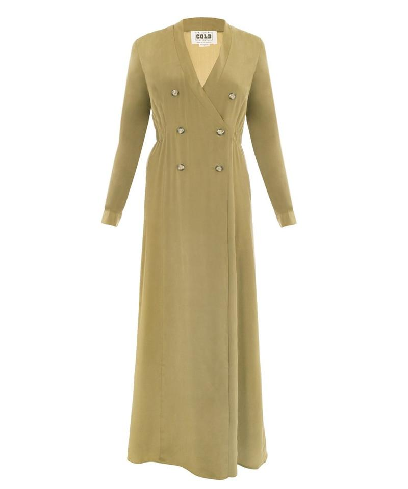 Stone Cold Fox Olive Folk Gown Long Casual Maxi Dress Size 4 (S ...