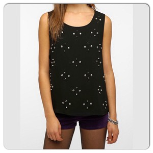 Urban Outfitters Top Black/Silver