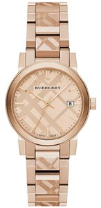 Burberry Women's Swiss Rose Gold Ion-Plated Stainless Bracelet 34mm BU9146