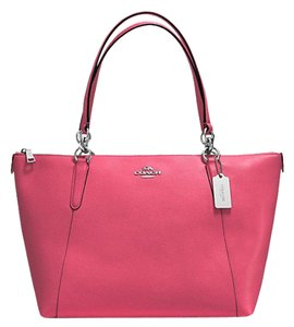 Coach Satchel Leather Satchel Tote in Strawberrg