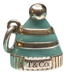 Tiffany & Co. Tiffany & Co blue enamel snow hat charm for necklace pendant rare