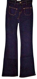 Forever 21 21 Junior Stretch Dark Wash Flare Leg Jeans-Dark Rinse