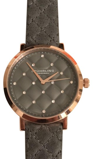 Preload https://img-static.tradesy.com/item/20419292/stuhrling-rose-gold-gray-w-new-quited-leather-band-and-face-wcrystals-watch-0-1-540-540.jpg