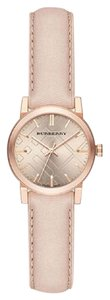 Burberry Women's The City Rose Gold Tone Steel Leather Watch BU9210