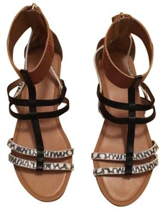 Coach black, white, tan Sandals
