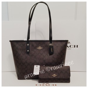 Coach Gift Set Wallet Set Tote in black