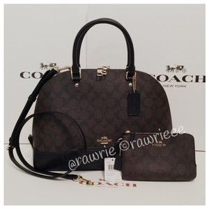 Coach Set Gift Set Matching Set Gift Box Monogram Satchel in black