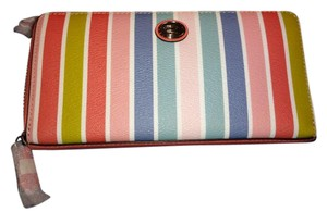 Coach Coach PEY STRIPED ZIP ARND WALLET