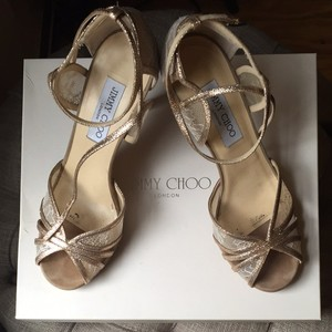 Jimmy Choo Platform Glitter Wedding Shoes