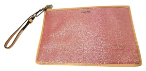 Coach Metallic Wristlet in Pink