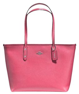 Coach City Leather Pink Tote in Strawberry