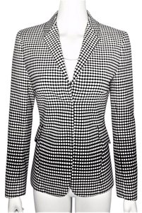 Akris Punto Black & White Degrade Dot print Blazer