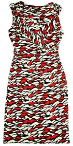 Diane von Furstenberg Silk Stretchy Fitted Sleeveless Dress