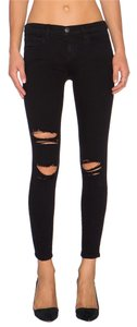 Current/Elliott Distressed Destroyed Ripped Skinny Jeans