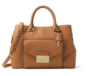 Michael Kors Haley Large Satchel in Acorn