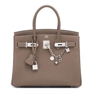 Hermès 30 Etoupe Etoupe 30 Taupe 30 Satchel in Brown