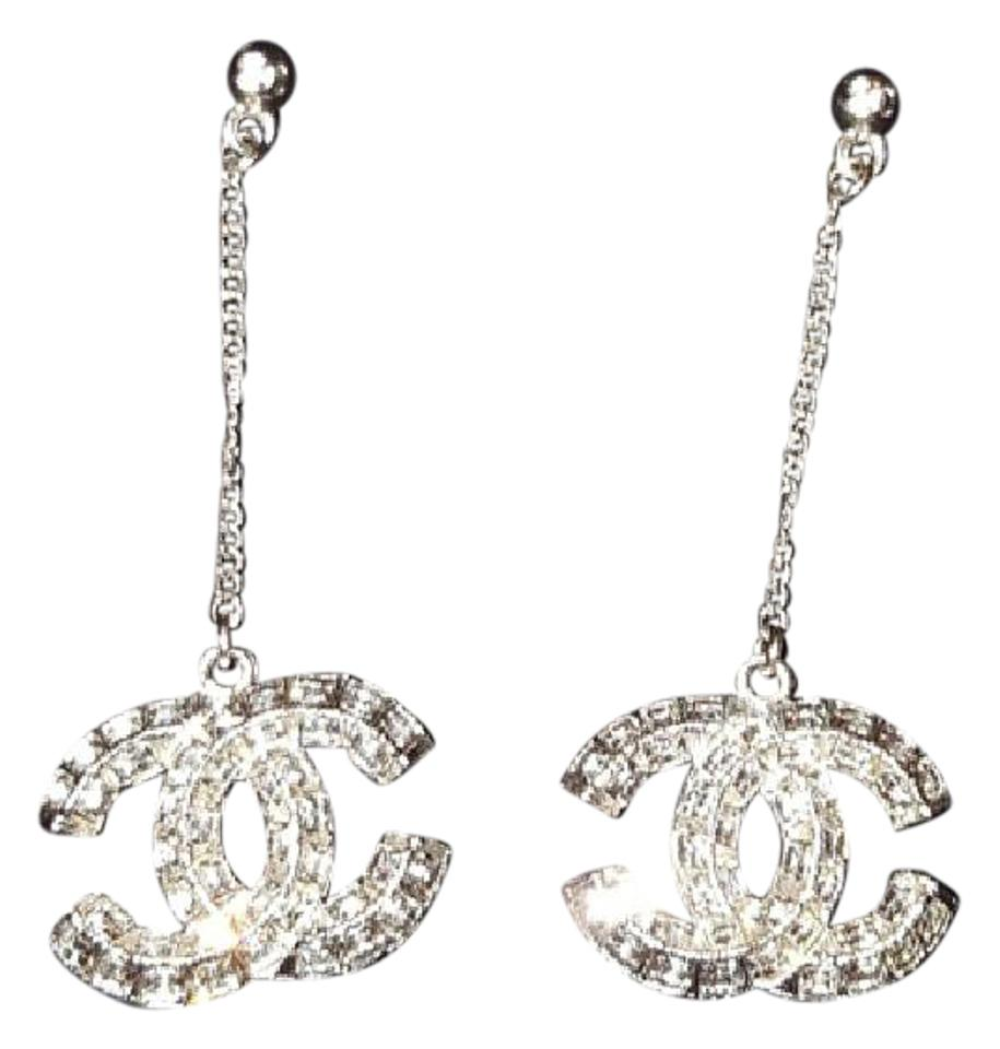 Chanel New Dangle Crystal Large Cc Earrings