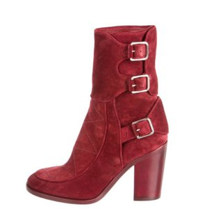 Laurence Dacade Suede Suede Red Boots