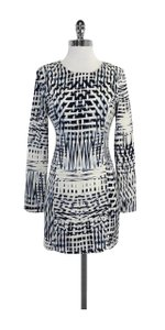 Parker short dress Blue & White Print Long Sleeve on Tradesy