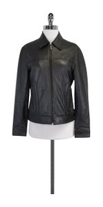 Nicole Miller Grey Leather Jacket