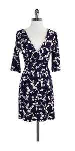 Diane von Furstenberg short dress Purple White & Black Silk on Tradesy