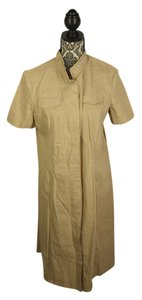 Elie Tahari short dress Beige Linen Snaps New on Tradesy