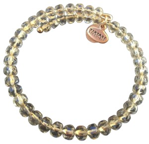 Alex and Ani NEW ALEX and ANI Russian GOLD MOSS GLEAM Crystal Beaded Bangle BRACELET