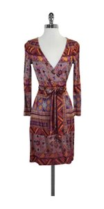 Diane von Furstenberg short dress Multi Color Print Wrap on Tradesy