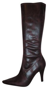 Kenneth Cole Reaction Stretch Man Made Faux Leather burgundy Boots