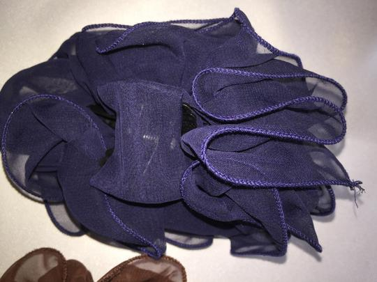Other 3-Hair Clamp Set; Ruffled Chiffon; Black, Navy & Brown [ Roxanne Anjou Closet ]