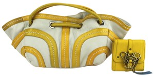 Kate Landry Satchel in Yellow, White