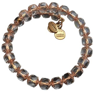 Alex and Ani NEW ALEX and ANI VINTAGE 66 Blush Crystal LAVA LOVE Beaded GOLD WRAP BRACELET