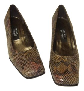 Stuart Weitzman Brown Black Multi Pumps