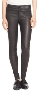 Vince Leather Skinny Pants Black